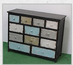 mini metal cabinet antique decoration industiral vintage furniture