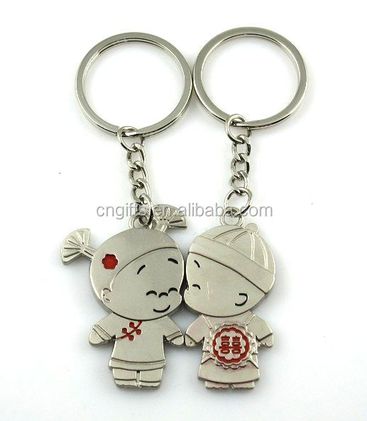 Wholesale kids party supplies love couple keychain for the <strong>keys</strong> boys and girls cute <strong>key</strong> rings