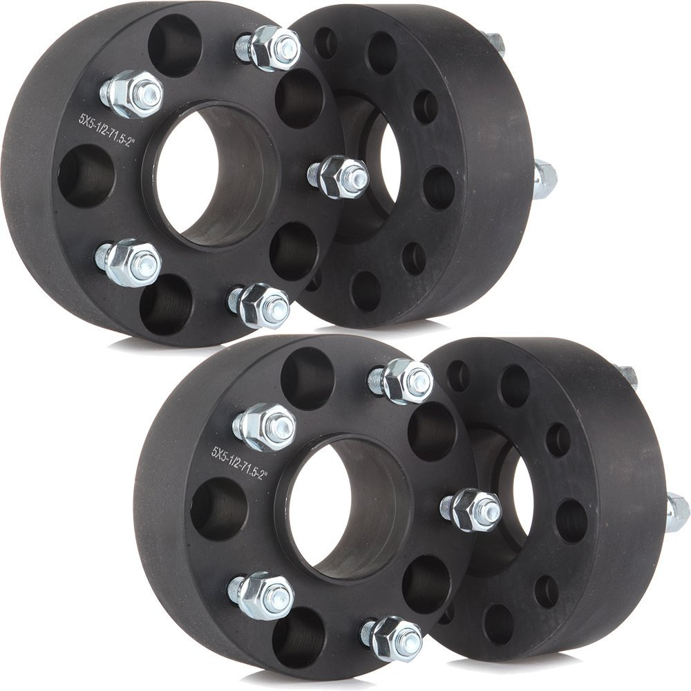 "Scitoo (4) 2"" 50mm 5 Lugs Hubcentric Wheel Spacers 5x5 to 5x5 Bolt On 1/2""x20 Studs For 2006-2010 Jeep Grand Cherokee Commander"