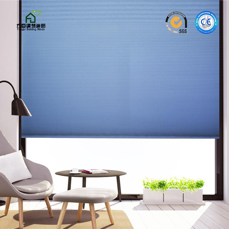 Hot Sale Cellular Shades Motorized Honeycomb Blinds Ecectric honeycomb skylight Remote control honeycomb