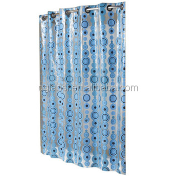Custom Printed Waterproof Plastic Shower Curtain Liner Curtains Hooks Hanger