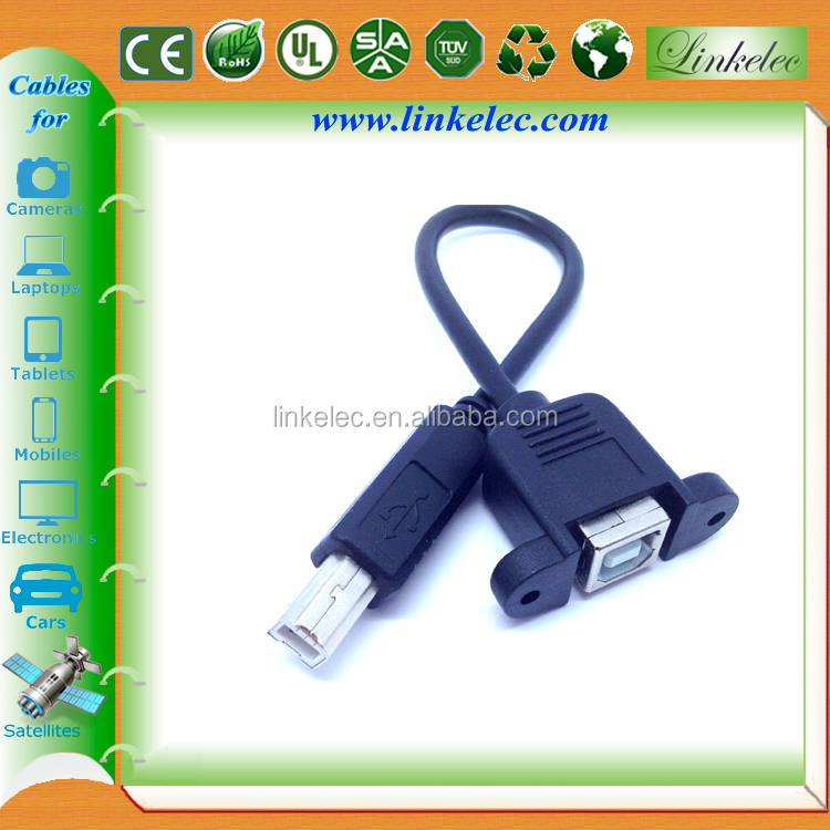 6ft Mini Usb Cable With Lock Screw Usb Panel Mount Cable