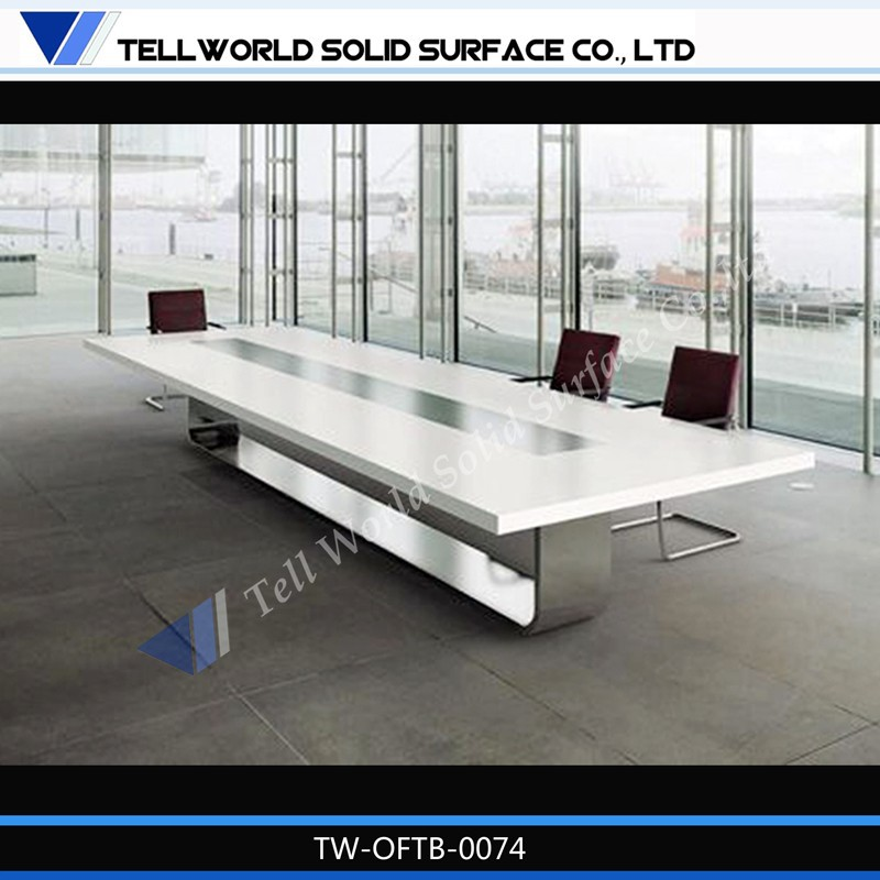 Office Meeting Furniture Marble Top Conference Table With Seater - Stone conference table