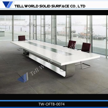 Office Meeting Furniture Marble Top Conference Table With 12 Seater  Artificial Stone Conference Table