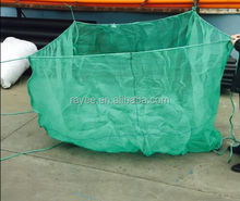 fish farming nets, PE knotless fishing cage net , hdpe aquaculture seabass culture fishing cage