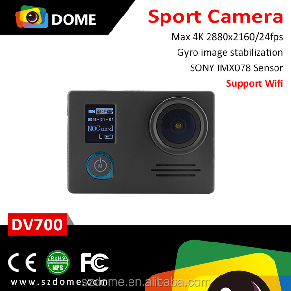 Shenzhen factory original action cams Novatek 96660 IMX078 wifi 4k action camera wholesale