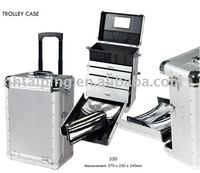 Professional Hair Stylist Artist Salon Aluminum Rolling padded tool box