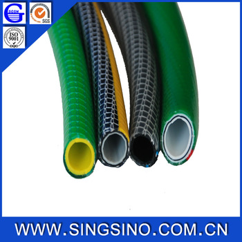 High Quality Non Kink 5 Layers PVC Garden Hose / PVC Garden Hose With Spray  Gun