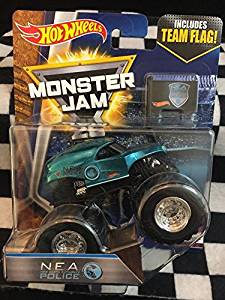 2017 BLUE N.E.A. POLICE Monster Jam Hot Wheels 1:64 TOUR FAVORITES 2/10