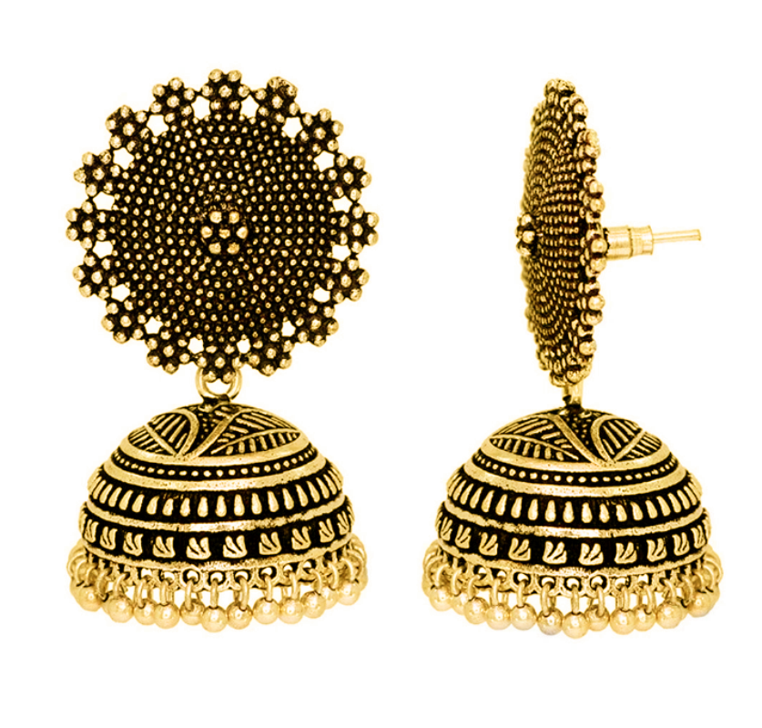 Jojo Fashion Jewelry Women Earring Indian Style Gold Jhumka Earrings Design For And S Traditional