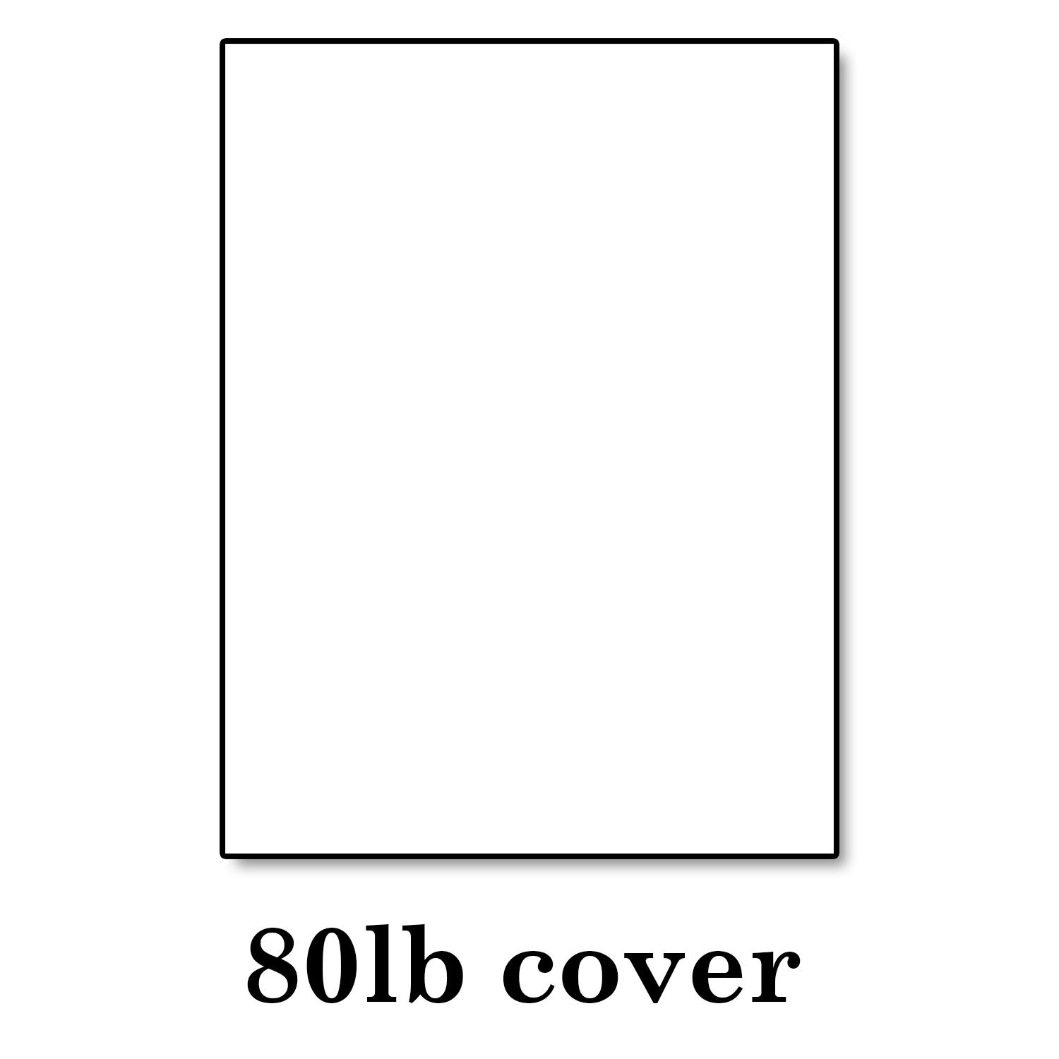 """Hamilco White Cardstock Thick Paper – 8 1/2 x 11"""" Blank Heavy Weight 80 lb Cover Card Stock - for Brochure Award and Stationery Printing - 250 Pack"""