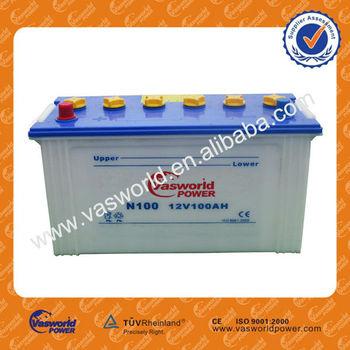 Japan Technology Jis Standard N100 Dry Charged 12v 100ah Car Battery