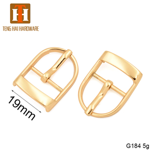19mm high quality zinc alloy pin clip belt buckle for handbag accessory