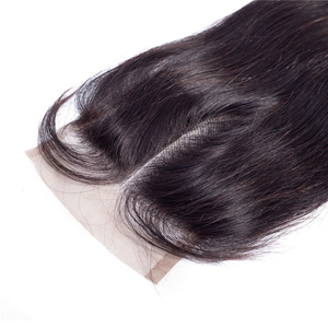 Brazilian Straight Bundles With Closure 10A Unprocessed Virgin Straight Hair Double Weft Softness And Silky Cheap Lace Closure