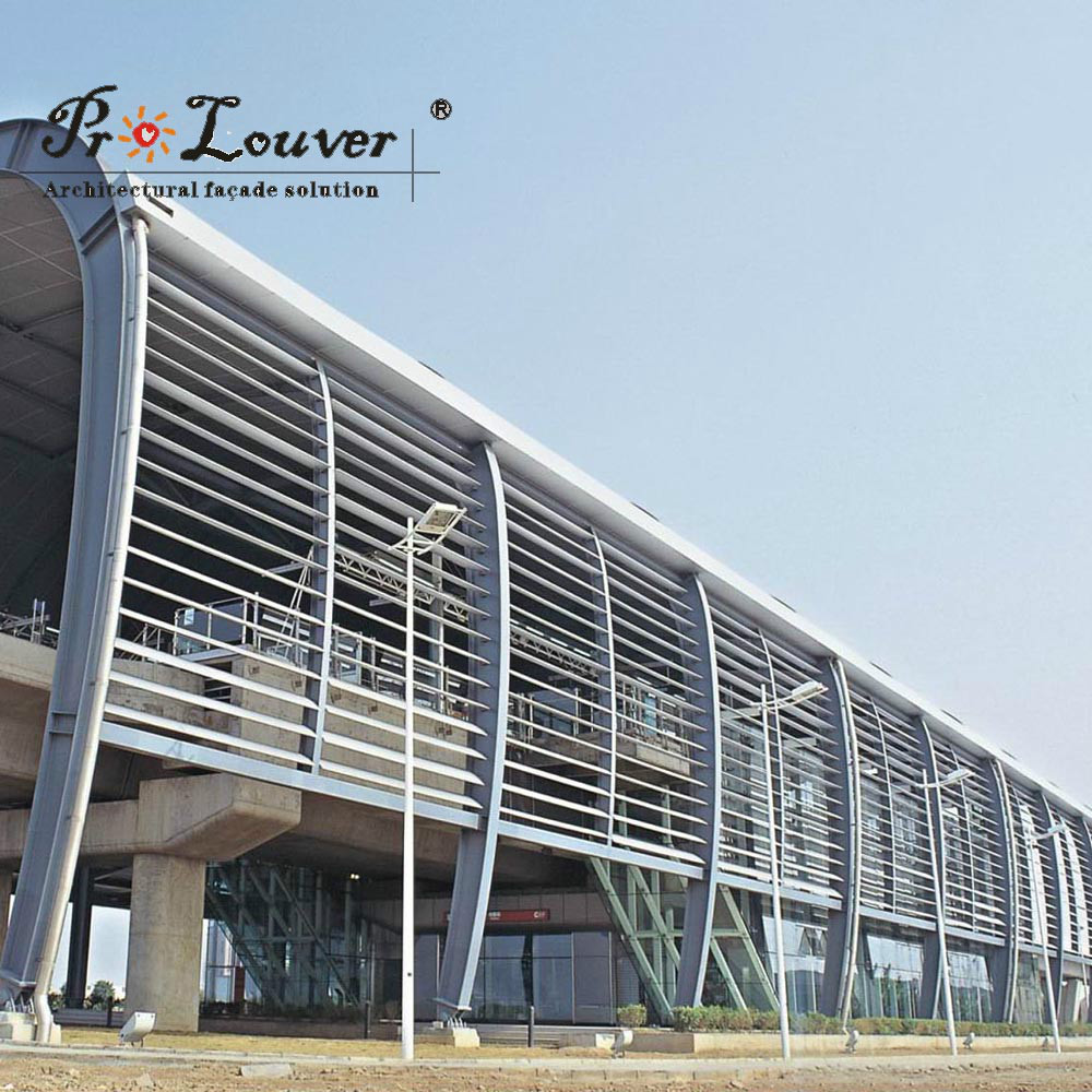 waterproofautomatic Aerofoil louver canopy & waterproofautomatic Aerofoil louver canopy View aluminum louver ...