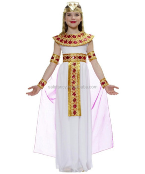 Pink Cleopatra Egyptian Girls lace dress children halloween costume party  city halloween costumes girls QBC,