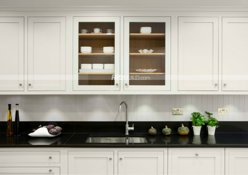 Matte finish solid wood kitchen wood construction oak for Solid wood modern kitchen cabinets