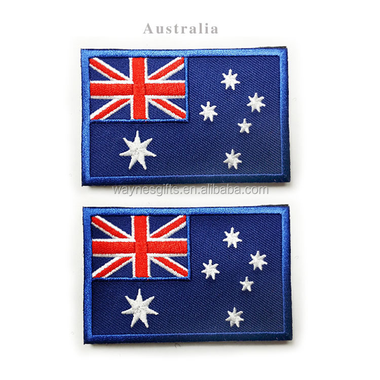 Australia flag patch, embroidery sew on flag patches