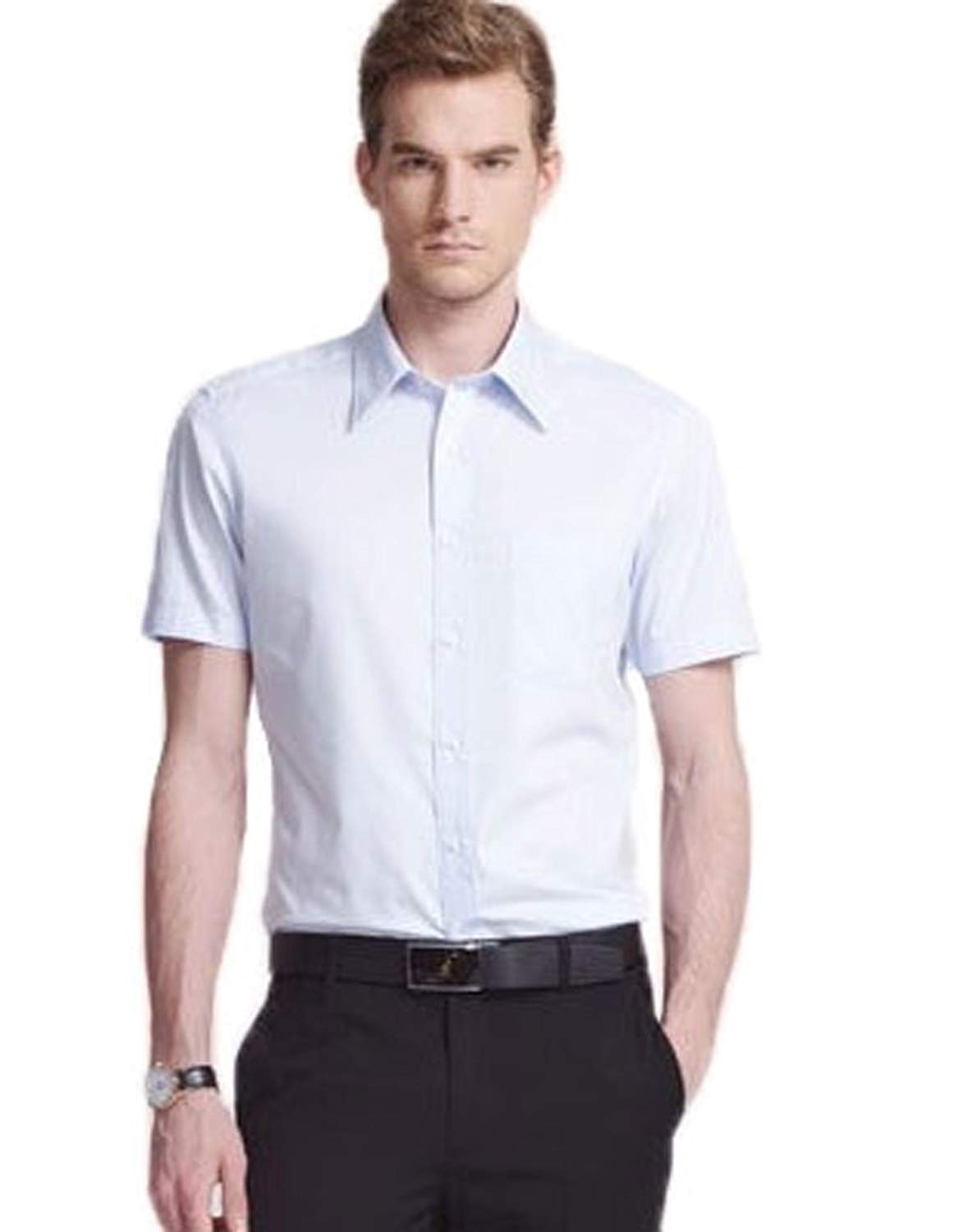 d326fb59eeb Get Quotations · Soojun Mens Short Sleeve Button Up Collared Dress Shirts