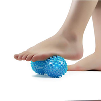 ZRWA28 lacrosse balls 1 pack spiky massage balls muscle roller deep tissue ideal for plantar fasciitis and back legs