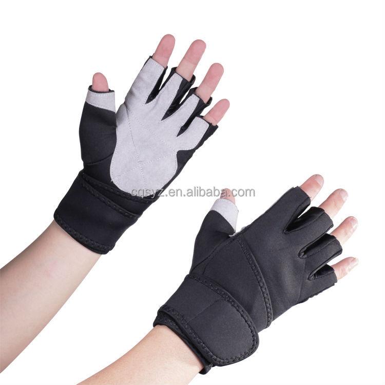 Personalized Fitness Gloves: Short Finger Professional Sports Gloves Neoprene Fabric