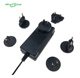 15v 3a detachable plugs multinational power adapter