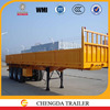 40ton 3 axle container semi trailer flat top trailer with removable 900mm side wall