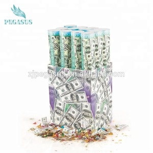 compressed air party confetti cannon money dollar decoration party popper