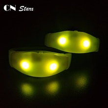 music activated led bracelet with LED glow wristbands that light up to music concert lights
