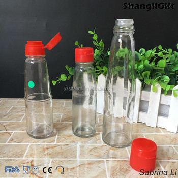 cheap empty sauce oil glass bottles with lid