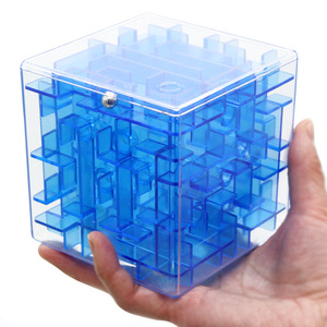 Plastic Intelligent Game Toy Brain Teaser 3D Maze Cube Puzzle for Kids