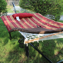 New Desgin Rope Hammocks Combo With Net With Stand Quilted Mat With One Pillow Hard Wood Ba In Winter