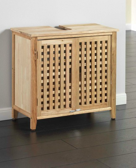 onder wastafel massief hout kast, badkamer wastafel kast, badkamer, Badkamer
