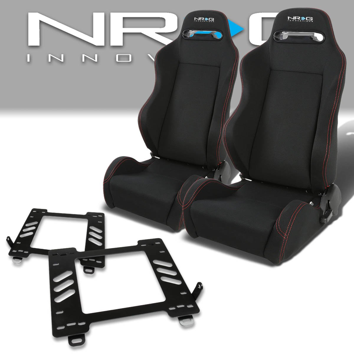 2 4-Point Cam Lock Seat Belt Red Pair of RST1PVCBK Racing Seats