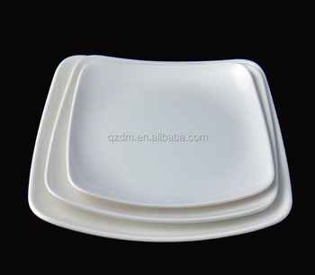 Plain White Melamine Square Plate Sets & Plain White Melamine Square Plate Sets - Buy Square Melamine Dinner ...