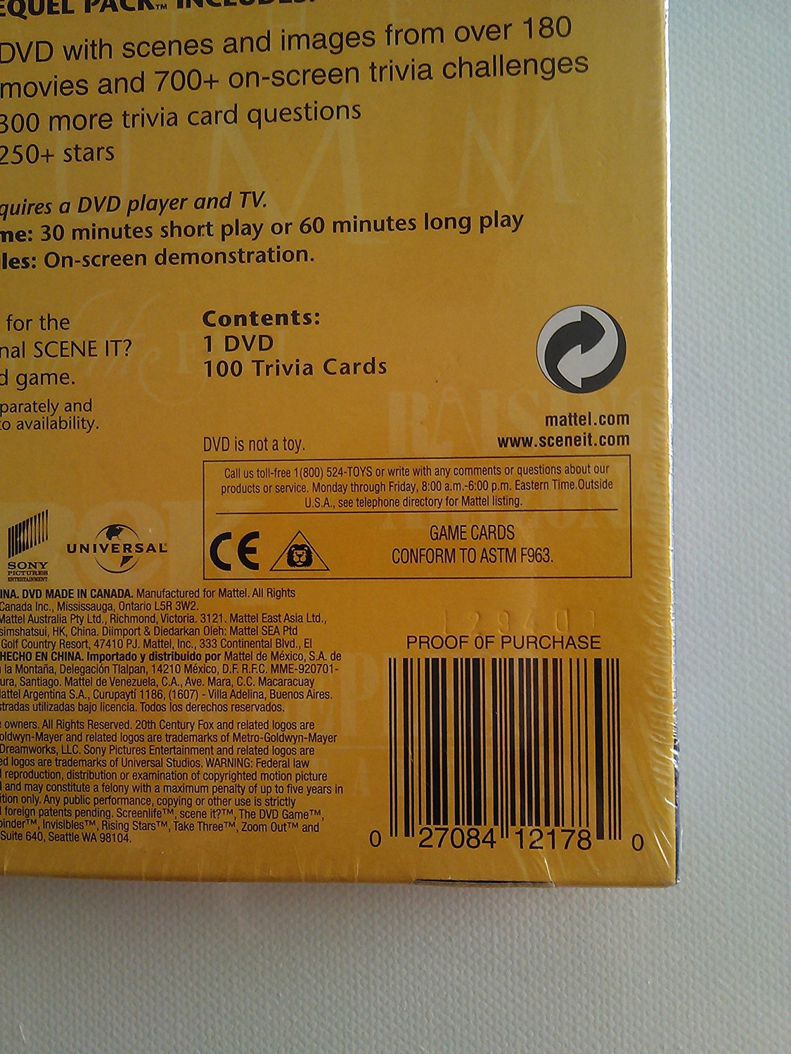 Toy / Game Scene It? The Dvd Game - Sequel Pack Movie Edition W/ 180 Movies & 700+ On Screen Trivia Challenges