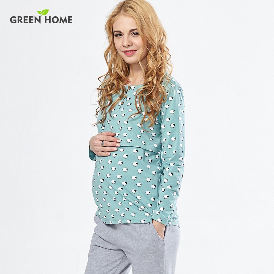 Wholesale Cotton Nursing Pajamas Nighties For Breastfeeding Clothing ...