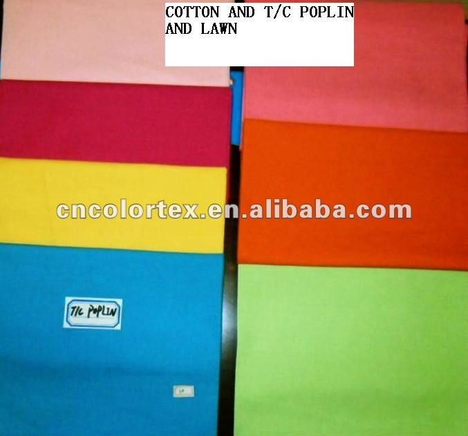 HIGHT QUALITY TC POPLIN FABRIC DYED