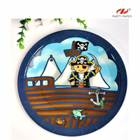 Pirate party paper plates disposable