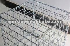 JX 100 welded galvanized PVC coated steel wire square gabion basket