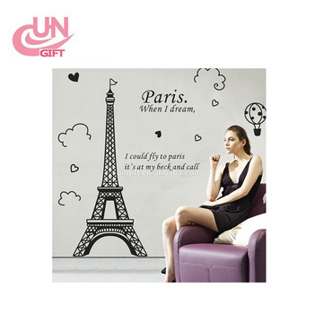 Super Deal 3d Wall Stickers Eiffel Tower Of Paris Removable Wall Stickers  Of Bedroom - Buy Eiffel Tower Of Paris Wall Stickers,3d Removable Wall ...