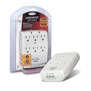 "Belkin International, Inc - Belkin 6-Outlet Wall Mount Home Series - Receptacles: 6 X Nema 5-15R - 1045J ""Product Category: Power Equipment/Surge Suppressors/Protectors"""