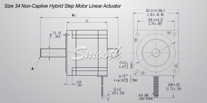 smooth nema 34 high torque non captive linear stepping motor buy smooth nema 34 high torque non captive linear stepping motor