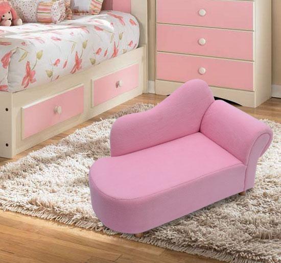 Mädchen Samt Chaise Longue Lounge Schlafsofa Schlafzimmer Couch Sitz ...