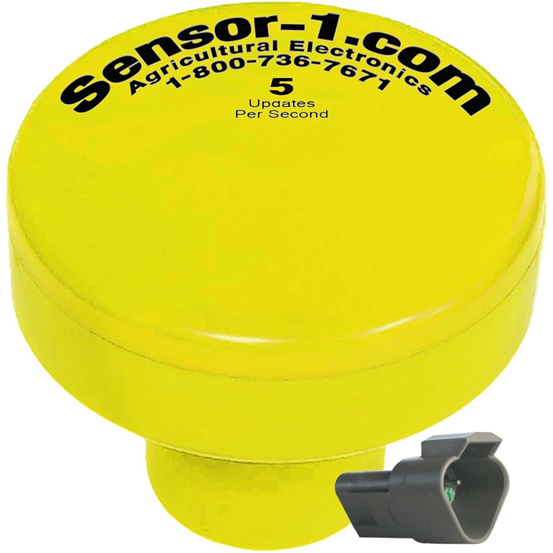 Sensor-1 DS-GPSM-TJ5-YEL 5 Hz GPS Speed Sensor, Yellow Housing with Tee-Jet Connector