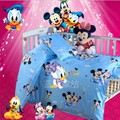 Promotion 3PCS Mickey Mouse Duvet Cover Sheet Pillow Cover Baby bedding cribs for babies cot set
