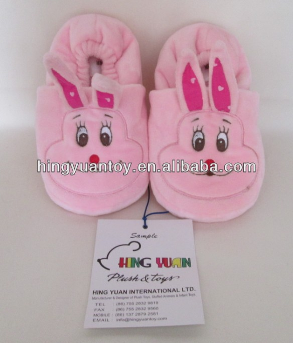 kids plush slippers made in animal <strong>rabbit</strong> style