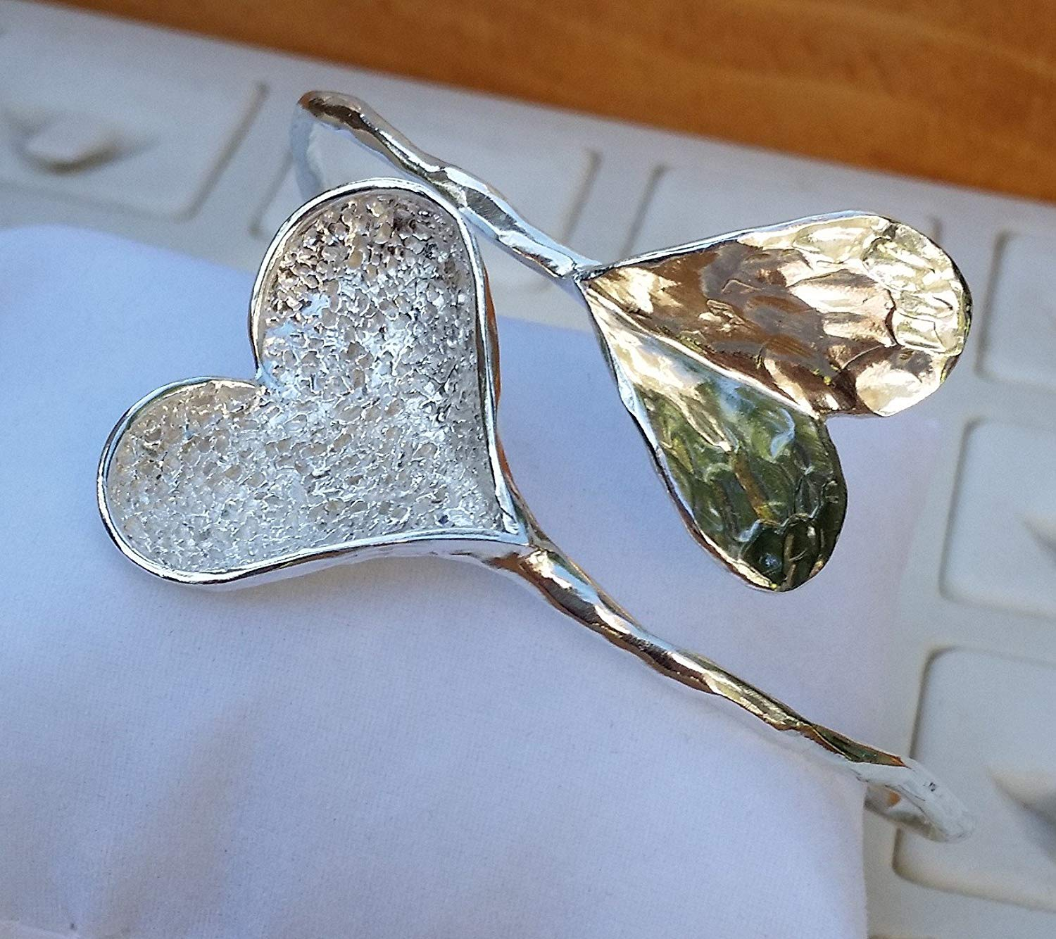 Heart Silver Bangle ,Unique Silver Bangle ,Sterling Silver 925 Bangle ,Handmade Silver Bangle ,Bridal Silver Bangle ,Wedding Silver Bangle Silver Heart