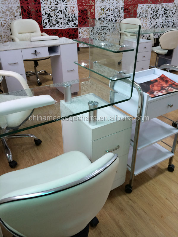 Glass Table Nail Salon Furniture Manicure Table Buy
