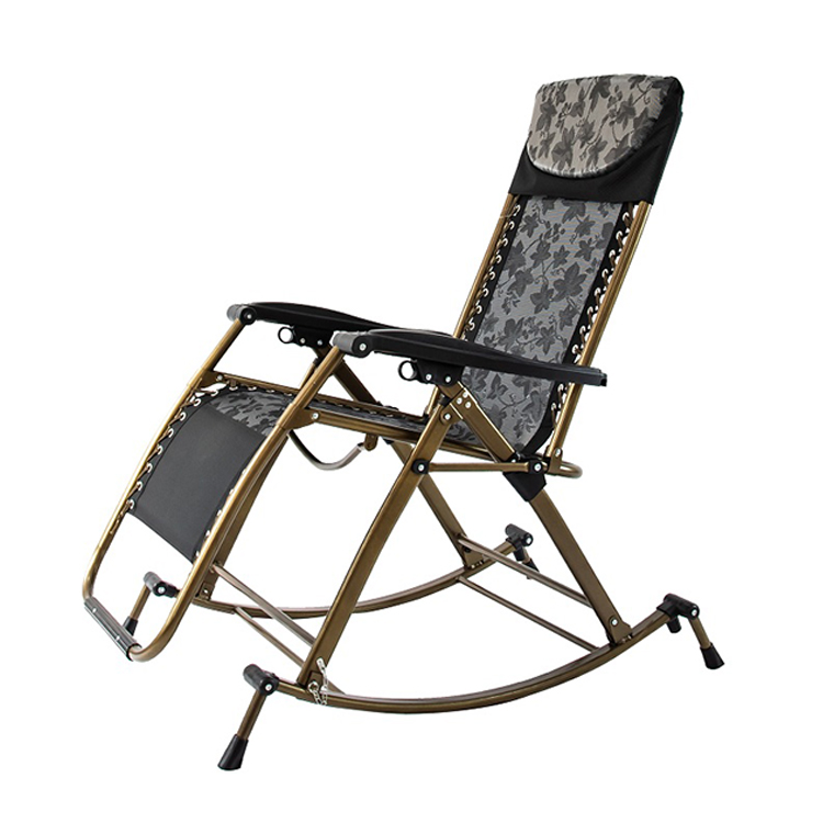 Modern Outdoor Metal Camp Zero Gravity Folding Rocking Chair
